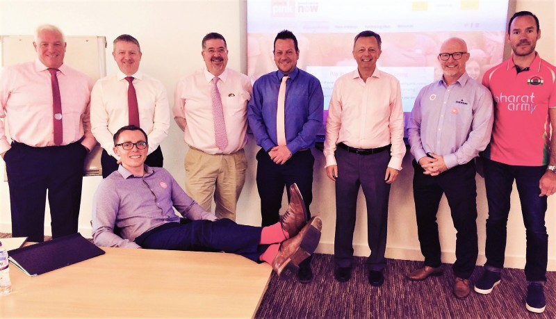 BVAA Business Development Group wearing their pink attire!