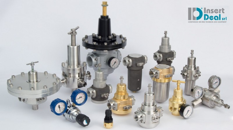Pressure regulators from ID Insert Deal Srl and Measure Monitor Control