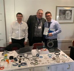 The DMR Seals team displaying their vast range of seals