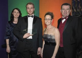 Pic: Award winner Richard Saul (second from left) with representatives from sponsors BERR and NOF En