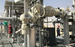 AUMA actuator on pipeline filtration skid in the Middle East