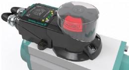 F31K2 dual sensor, mounted on a pneumatic valve actuator