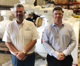 Conrad Ritchie, Managing Director of Score International (left) with Robert Murdoch, President of Score Valve Services (right) on a recent visit to Houston