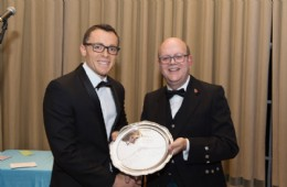 BVAA Chairman Colin Findlay presenting Future Leader award to Dave Godfrey