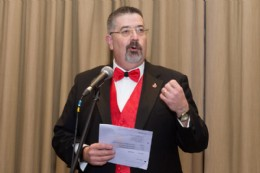 Rob Bartlett giving a speech at the 2019 AGM