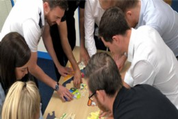 Cohort 4 undertaking a group task at Severn
