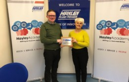 Hayley Group displaying their BVAA plaque
