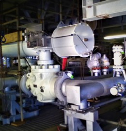 Part of recently supplied SVS actuated packaged in-situ offshore, North Sea.