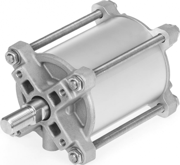 Freedom of choice: The double-acting pneumatic linear actuator DFPC from Festo for process valves is available either as low-cost, preconfigured standard variants from stock or as individually configured versions. (Photo: Festo SE & Co. KG)