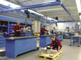 Work in progress in the work bench area of Rotork�s new UK service workshop