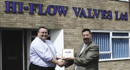 Hi-Flow Valves General Manager, Lee Vincent receiving his BVAA Member plaque from BVAA Director, Rob Bartlett