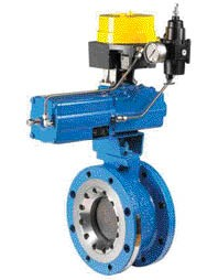 Figure 5. Neles SwitchGuard, an intelligent valve controller mounted on the top of a Neldisc metal-seated butterfly valve, for demanding on-off applications.